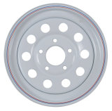 Il pneumatico d'acciaio dell'Assemblea borda i cerchioni d'acciaio del rimorchio