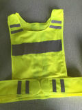 Тельняшка хода безопасности желтого цвета свободно образца отражательная для предохранения от безопасности дороги