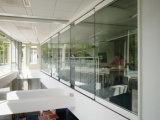 Cloison de séparation en verre, mur en verre mobile de Frameless