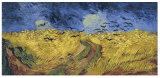 Olio famoso Paintingwheatfield con i corvi, Vincent Van Gogh degli artisti