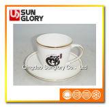 Versterk de Mok van de Koffie van het Porselein met Gouden Draad van Bd041