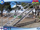 オフィスビル(SSW-S-002)のためのプレハブの鋼鉄StepstairかステアケースまたはLabberまたは階段