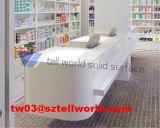Contatore di contanti bianco acrilico della TW per il negozio del panno
