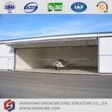 Hangar ligero de los aviones del marco del metal