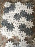 Blumen-Auslegung-Marmor-Mosaik-Wand-Wandkunst-Fliesen