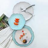Multi-Color alivio de la Puntilla de flor de la placa de gres vidriado/platos