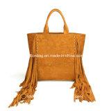 La maggior parte borsa popolare di acquisto della pelle scamosciata di formato del sacco di Tote della nappa di modo di grande