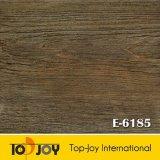 El patrón de madera suelos de baldosas flojas de PVC laicos E-6185