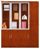 Cabinet de livre de peinture en placage de teck traditionnel pour bureau (HY-C902)