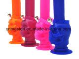 食品等級の頭骨ヘッドデザインシリコーンのガラス配水管(DD1)
