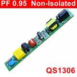 6-20W Hpf EMC QS1306の非絶縁LEDのランプまたは管の軽い電源
