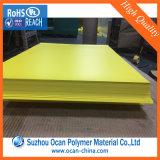 정가표를 인쇄하는 오프셋을%s 불투명한 노란 광택 있는 엄밀한 PVC 장