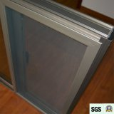 Dunkler Griff mit Schlüssel anodisiertem Aluminiumlegierung-schiebendem Aluminiumfenster mit Moskito-Netz K01070