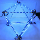 나이트 클럽 DMX 백색 RGB LED 3D 기하학 유성 관 단계 빛