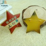 Impresos Offset Material latón estrellas insignia de solapa