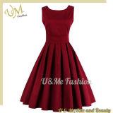 Robe rouge de filles de loisirs de centrale dans l'usine Chine d'OEM de vêtement