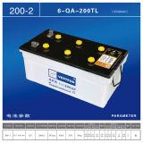 Acido al piombo con la batteria caricata asciutta DIN75