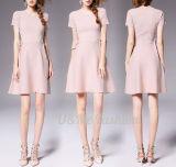 Form-rosafarbene Damen schließen HülseKnit A kurz - Zeile schnüren sich ankleidet oben