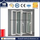Polvere di economia che ricopre la finestra di alluminio grigia della stoffa per tendine
