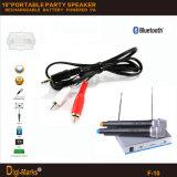 PRO altoparlante del Portable di Bluetooth di karaoke del contenitore di altoparlante della sosta della batteria ricaricabile