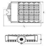 Im Freien Solarstraßenlaterne der AC85-265V 150W Aluminiumlandschaftsbeleuchtung-IP65 LED