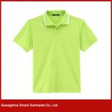 最もよい品質の100%年の綿の悪感情の白いポロのTシャツ(P71)
