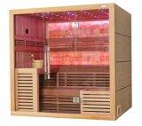 Harvia 도매 히이터 캐나다 Cedar 목제 다채로운 LED 가벼운 건조한 Sauna 룸 M-6055