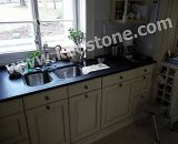 Prefab Natural Stone Butterfly Blue Granite Kitchen Countertop