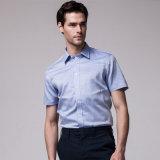 Camice di vestito italiane dall'azzurro reale del collare per gli uomini