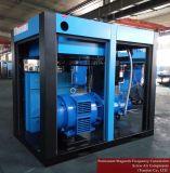 A poupança de energia óleo estacionário inferior do compressor de ar de parafuso rotativo