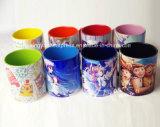 Taza de cerámica del color del interior y del borde 11oz
