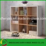 Biblioteca branca e de madeira da alta qualidade moderna da grão de escritório da mobília