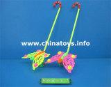 Promocional de plástico empurrando Bee Toy Push Wheel (1040902)