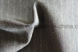 Escoger echado a un lado rayado echada a un lado aplicada con brocha, solo, la tela teñida hilado de T/R, 250GSM, 63%Polyester 33%Rayon 4%Spandex