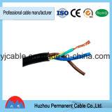Huzhou Rvv permanent 1mm 1.5 millimètre 2.5mm 4mm 16mm câble de fil électrique de PVC de 3 faisceaux de cuivre