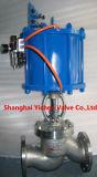 Brida neumática tipo de China válvula de globo (J641)