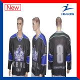Хоккей на льду Джерси сетки сублимации способа изготовленный на заказ Sportswear Healong он-лайн