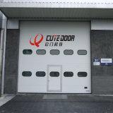 Дверь гаража высокого качества прямых связей с розничной торговлей изготовлений секционная сползая промышленная
