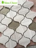 Cristal Mix Linterna de piedra del mosaico del azulejo protector contra salpicaduras