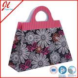 Envoltura de regalos tiendas de moda Floral de embalaje bolsa de papel con una cuerda