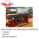 5 Motor de 45 ° de vidrio pequeño de línea recta máquina de bordes