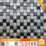 Muro de la tienda de moda mosaico de vidrio y acero inoxidable (M820002)