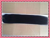 """Выдвижение 100% волос Remy наградного Weave человеческих волос качества реальное Зажим-в выдвижениях волос прямо 20 """" Color#1b, 8PCS /Set"""