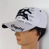 Bordado, borda do rolo da listra, chapéus do Beanie (S-1059)