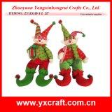 Giocattolo dell'elfo della peluche della bambola del regalo dello stregone di natale della decorazione di natale (ZY11S318-1-2)