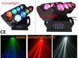 Indicatore luminoso mobile professionale del ragno della testa LED di controllo 8X12W RGBW 4in1 di effetto DMX del partito del randello della discoteca del DJ