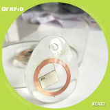 White Clear Crystal RFID NFC Keyfob pour contrôle d'accès