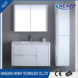 Mobilier de cabinet de salle de bain blanc moderne avec armoire latérale