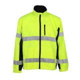 Подгонянная куртка безопасности хлопка отражательная