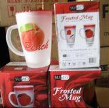 Caneca de vidro do copo com a tampa com a caneca de café Sdy-F00409 do decalque